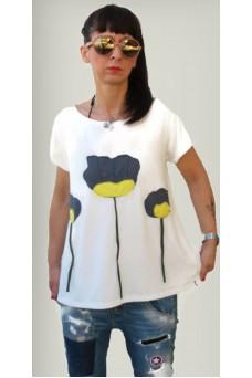 Mπλούζα με παράσταση παπαρούνες