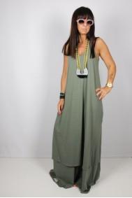 Φόρεμα με απλικέ παράσταση ψαροκόκκαλο στην πλάτη