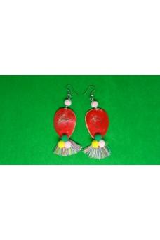 Σκουλαρίκια καρφωτά κρεμαστά μπαλόνια