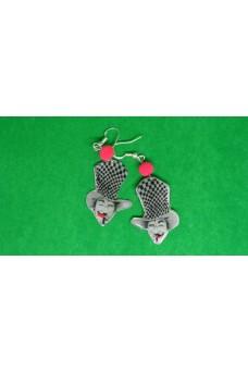 Σκουλαρίκια καρφωτά κρεμαστά τζόκερ