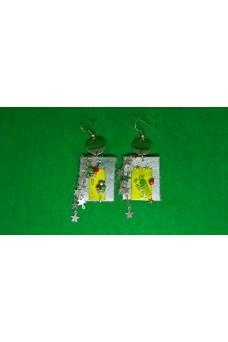 Σκουλαρίκια καρφωτά κρεμαστά πολύχρωμα