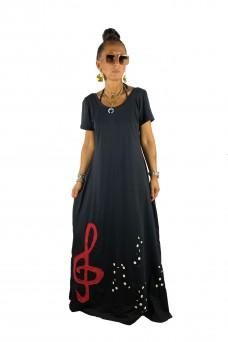 Maxi φόρεμα με κλειδί του Σολ