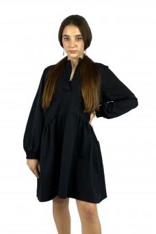 Φόρεμα baby φούτερ μαύρο