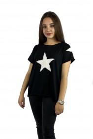 Μπλούζα με απλικέ παράσταση αστέρια