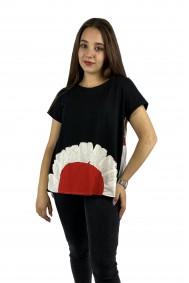 Μπλούζα με απλικέ παράσταση μαργαρίτα
