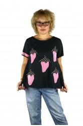 Μπλούζα με απλικέ παράσταση μικρές φράουλες
