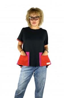 Μπλούζα με διπλές τσέπες
