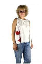 Μπλούζα με απλικέ παράσταση φράουλα