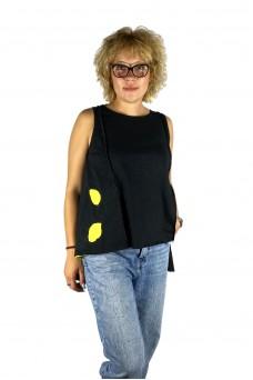 Μπλούζα με απλικέ παράσταση λεμόνια