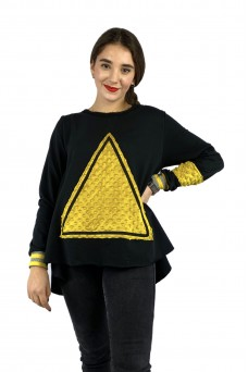 Μπλούζα φούτερ με απλικέ τρίγωνο