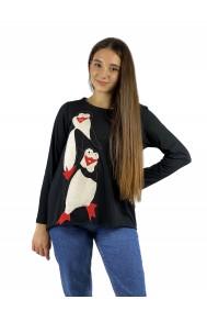 Μπλούζα απλικέ με πιγκουινάκια
