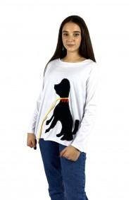 Μπλούζα απλικέ σκυλάκι