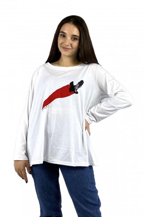 Μπλούζα απλικέ με Logo Pepper