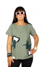 Μπλούζα με απλικέ παράσταση ανανά