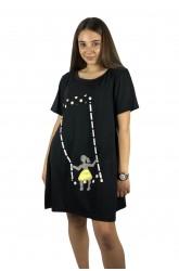 Μπλουζοφόρεμα με κοριτσάκι στην κούνια