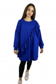 Μπλουζοφόρεμα μπλε ηλεκτρίκ φούτερ