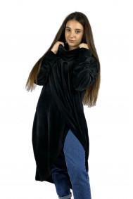 Μπλουζοφόρεμα μαύρο βελουτέ