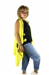 Κίτρινο μακρύ γιλέκο