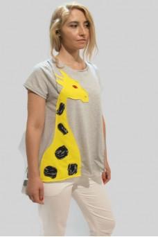 Μπλούζα γκρί με παράσταση καμηλοπάρδαλη