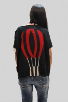 Mπλούζα με απλικέ παράσταση αερόστατο