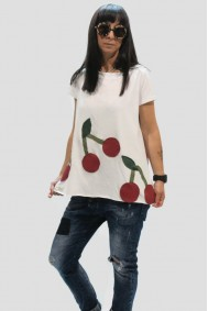 Μπλούζα με παράσταση κεράσια