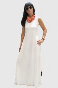 Φόρεμα μακρύ απλικέ παράσταση με λουλούδια